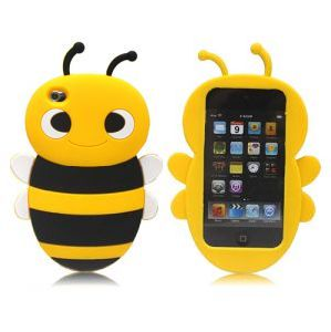 Boust 3D Cute Bumble Bee Silicone Soft Case Cover Skin for iPod Touch 4 4G 4th Gen (BST-ABGM)