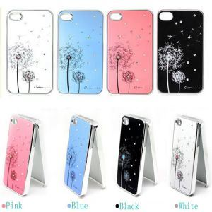 Boust Fashion Luxury Diamond Dandelion Hard Back Cover Case Skin for iPhone 4 4G 4s (BST-ABIF)